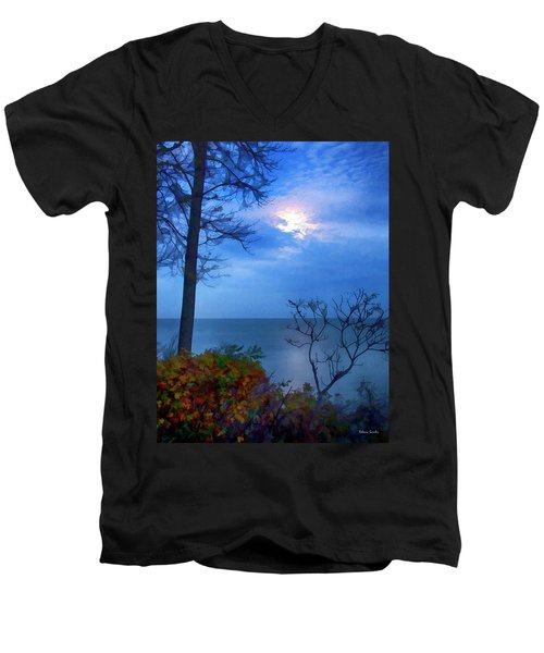 Moonset 1 Men's V-Neck T-Shirt