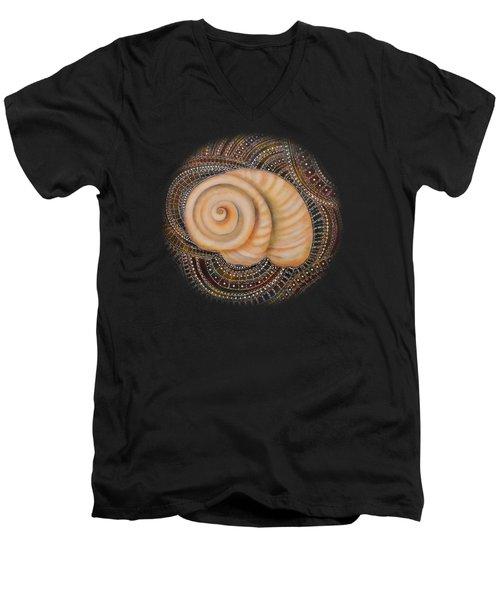Moonsnail Mandala Men's V-Neck T-Shirt by Deborha Kerr