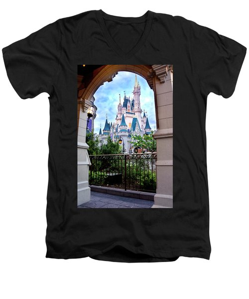 Men's V-Neck T-Shirt featuring the photograph More Magic by Greg Fortier