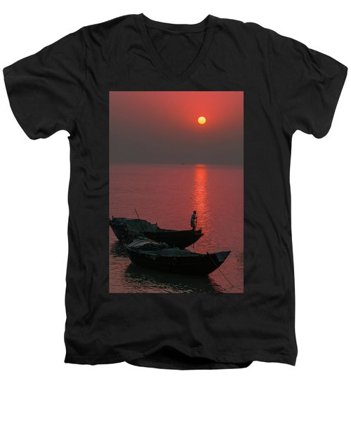 Morning Breaks Men's V-Neck T-Shirt