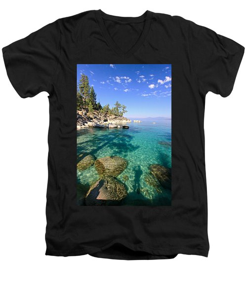 Morning Glory At The Cove Men's V-Neck T-Shirt by Sean Sarsfield