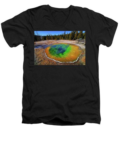 Morning Glory Pool Men's V-Neck T-Shirt