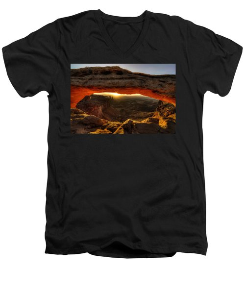 Morning Glow At Mesa Arch Men's V-Neck T-Shirt