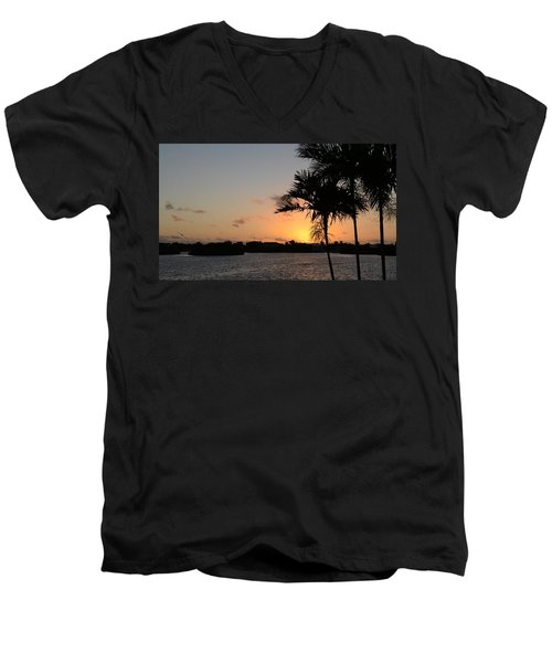 Men's V-Neck T-Shirt featuring the photograph Morning Has Broken Two by Pamela Blizzard