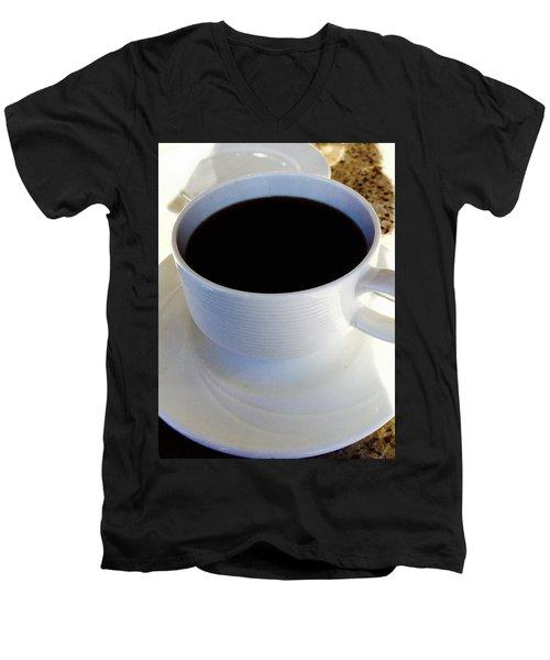 Morning Joe Men's V-Neck T-Shirt by Russell Keating