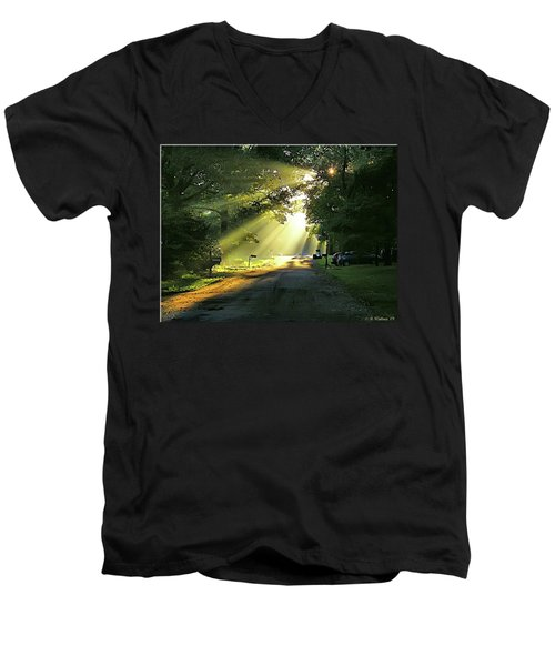 Men's V-Neck T-Shirt featuring the photograph Morning Light by Brian Wallace