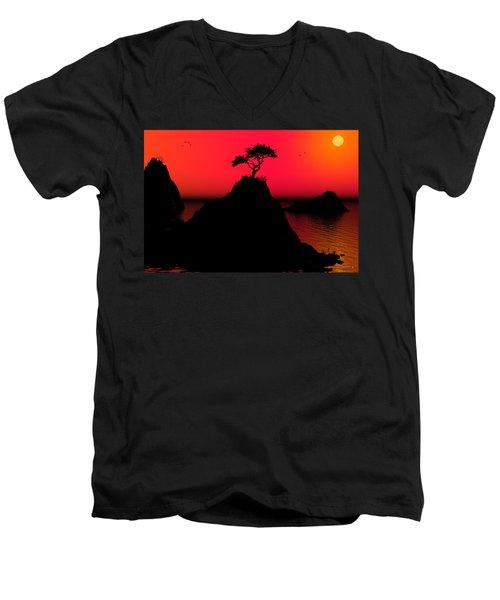 Morning Light Men's V-Neck T-Shirt by Robert Orinski