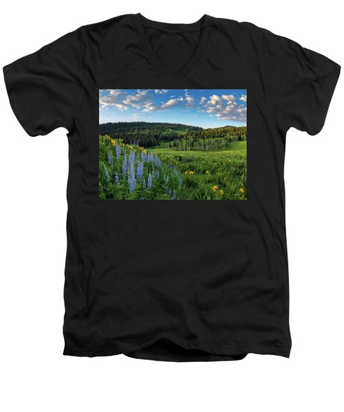 Morning Meadow Men's V-Neck T-Shirt