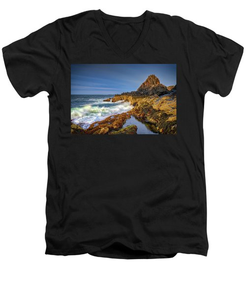 Men's V-Neck T-Shirt featuring the photograph Morning On Bailey Island by Rick Berk