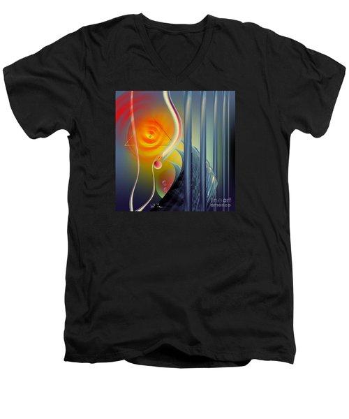 Morning Prayer 2 Men's V-Neck T-Shirt by Leo Symon