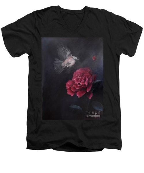 Morning Rose Men's V-Neck T-Shirt