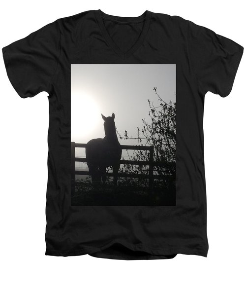 Morning Silhouette #1 Men's V-Neck T-Shirt