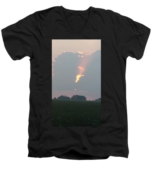 Morning Sky On Fire Men's V-Neck T-Shirt