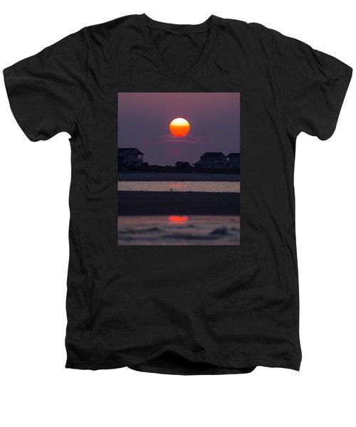 Morning Sun Men's V-Neck T-Shirt by Alan Raasch