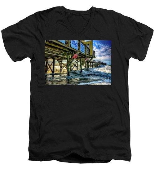 Morning Sun Under The Pier Men's V-Neck T-Shirt