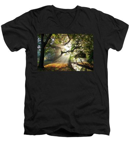 Morning Sunrise In Hampden Park Men's V-Neck T-Shirt