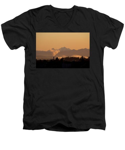 Men's V-Neck T-Shirt featuring the photograph Morning View by Evgeny Vasenev