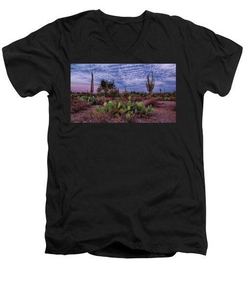 Morning Walk Along Peralta Trail Men's V-Neck T-Shirt by Monte Stevens