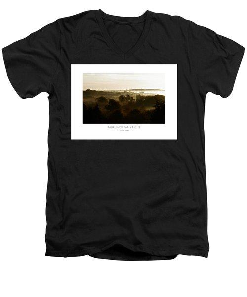 Morning's Early Light Men's V-Neck T-Shirt