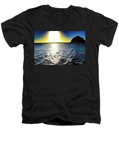 Morro Rock Men's V-Neck T-Shirt
