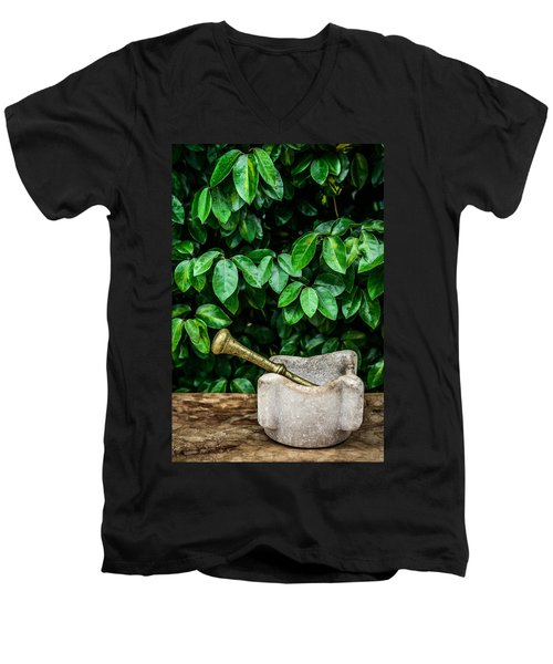 Mortar And Pestle Men's V-Neck T-Shirt