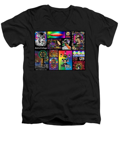 Mosaic Of Retrocollage I Men's V-Neck T-Shirt