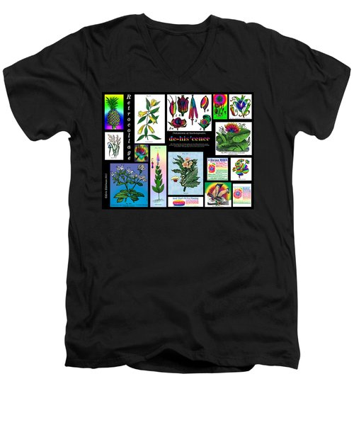 Mosaic Of Retrocollage II Men's V-Neck T-Shirt by Eric Edelman