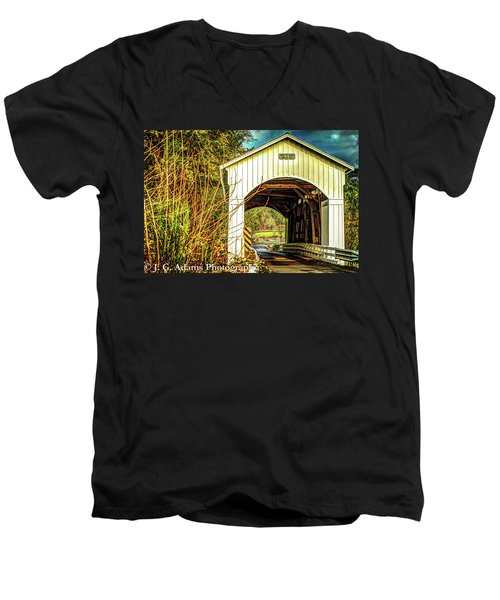 Mosby Creek Bridge Men's V-Neck T-Shirt