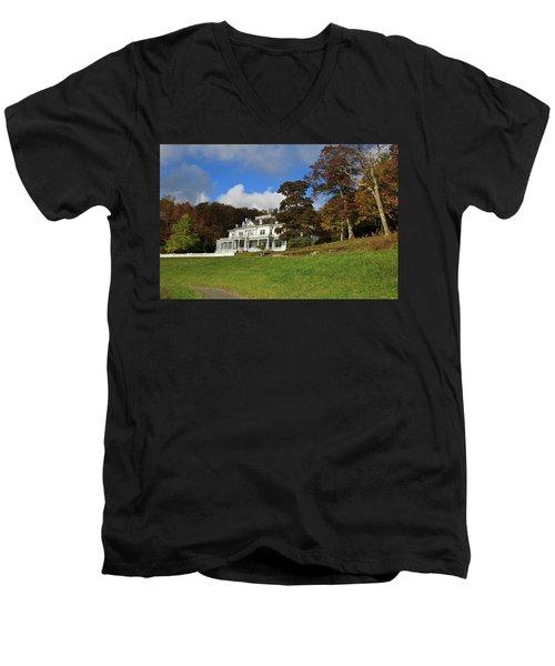 Moses Cone Flat Top Manor Men's V-Neck T-Shirt