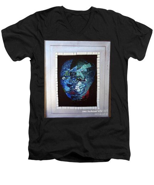 Mosiac Man Men's V-Neck T-Shirt