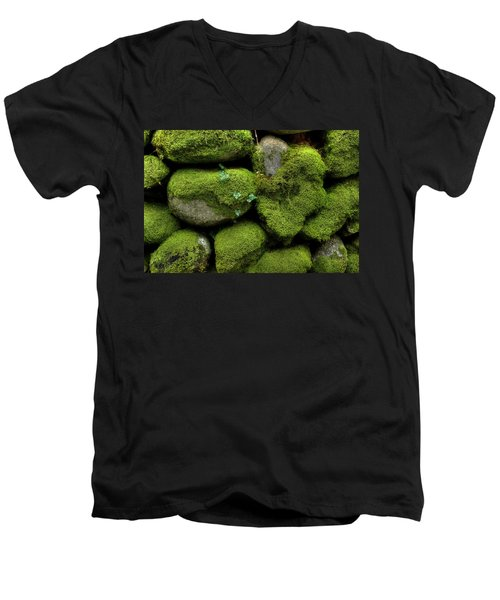 Men's V-Neck T-Shirt featuring the photograph Moss And Ivy by Mike Eingle