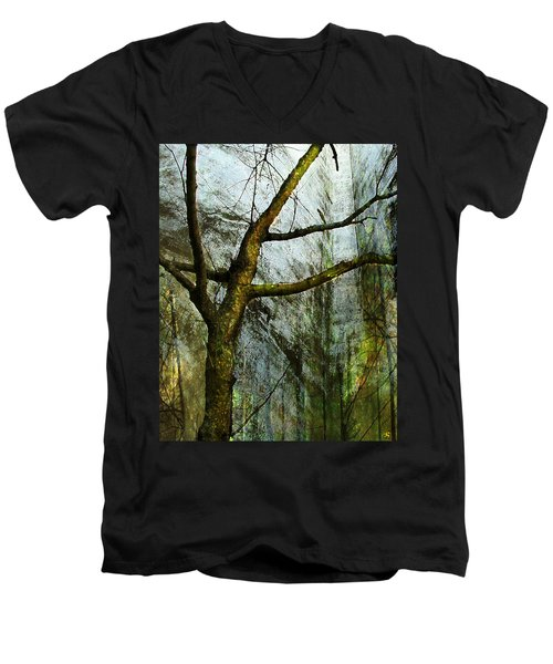 Moss On Tree Men's V-Neck T-Shirt