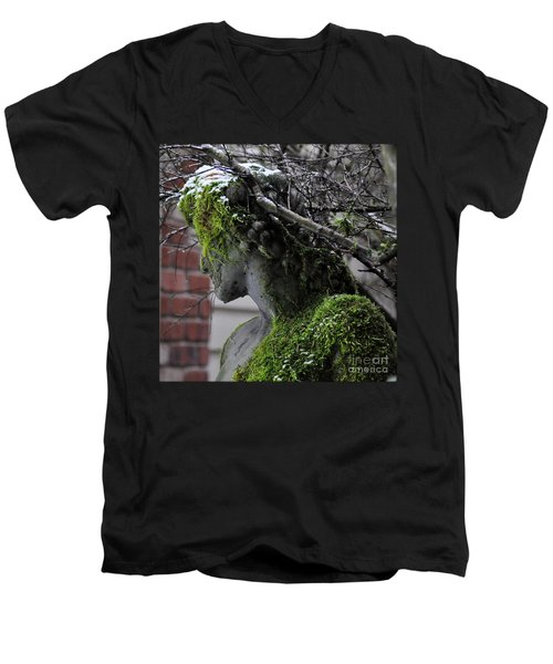 Mossy Bacchus Men's V-Neck T-Shirt by Tanya Searcy