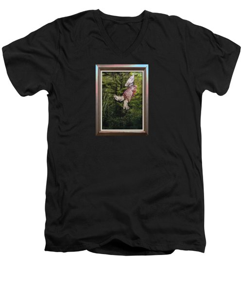 Mother And Daughter One Men's V-Neck T-Shirt by Stan  Magnan