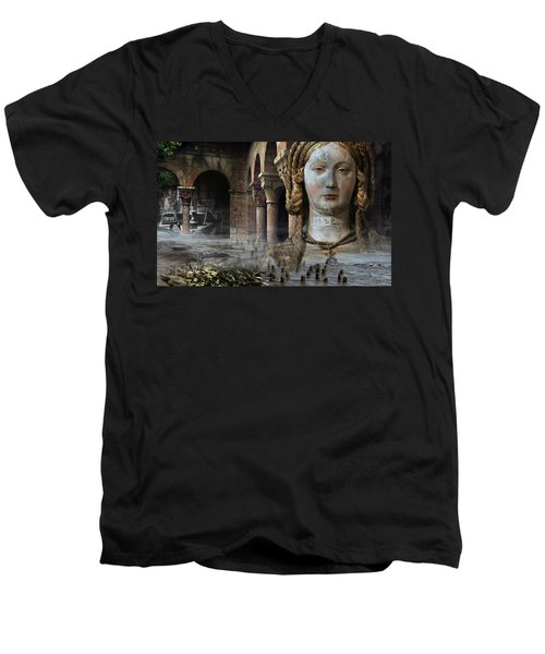 Mother Earth Men's V-Neck T-Shirt by Yvonne Wright