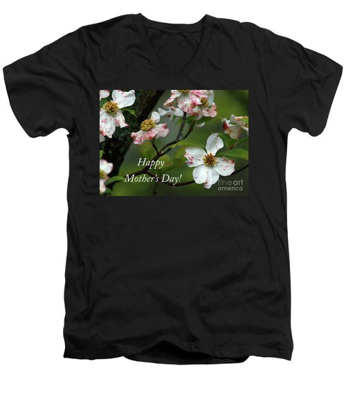Men's V-Neck T-Shirt featuring the photograph Mother's Day Dogwood by Douglas Stucky