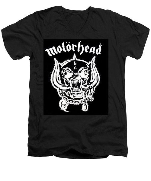 Men's V-Neck T-Shirt featuring the digital art Motorhead by Gina Dsgn