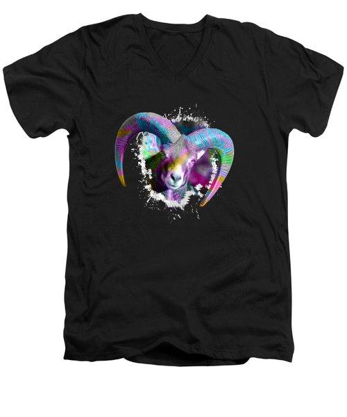 Mouflon Ovis Orientalis Men's V-Neck T-Shirt