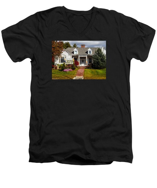 Moultonborough Public Library Men's V-Neck T-Shirt by Nancy De Flon