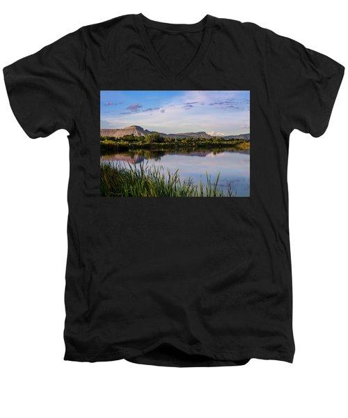 Mount Garfield In The Evening Light Men's V-Neck T-Shirt