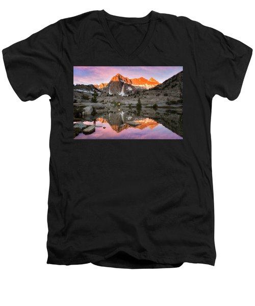 Mountain Air  Men's V-Neck T-Shirt by Nicki Frates