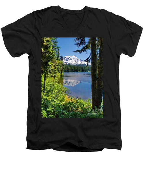 Mountain Lake Reflections Men's V-Neck T-Shirt