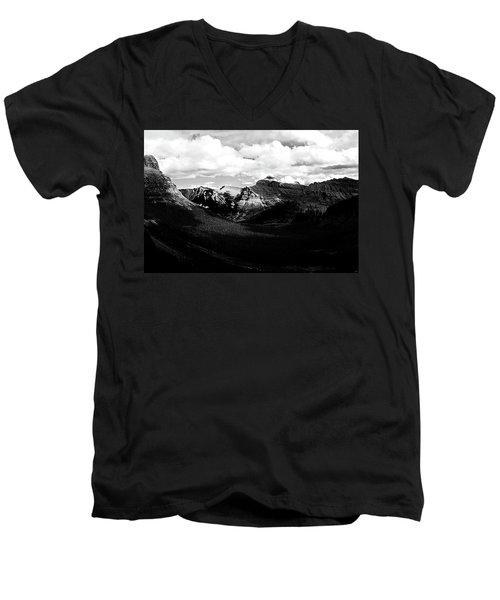 Mountain Valley Landscape Men's V-Neck T-Shirt