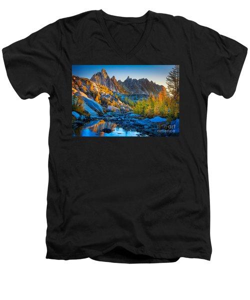 Mountainous Paradise Men's V-Neck T-Shirt