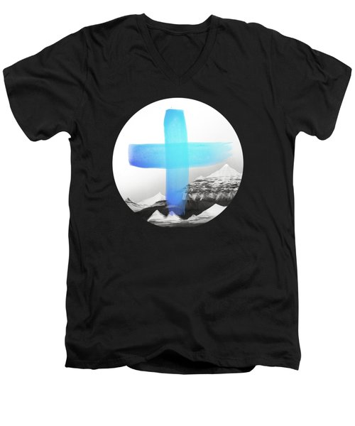 Mountains Men's V-Neck T-Shirt by Amy Hamilton