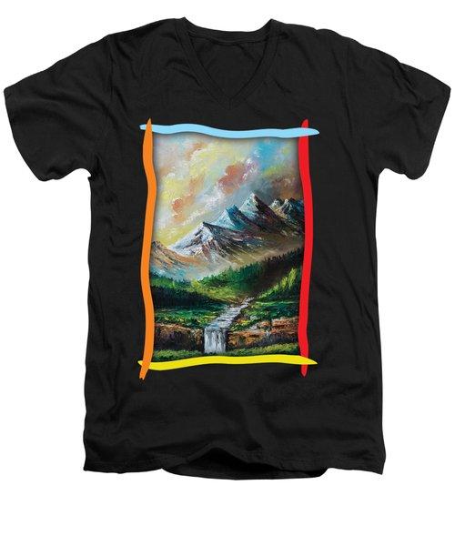 Mountains And Falls Men's V-Neck T-Shirt