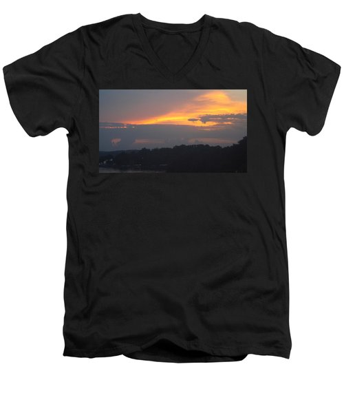Mountains Of Gold  Men's V-Neck T-Shirt by Don Koester