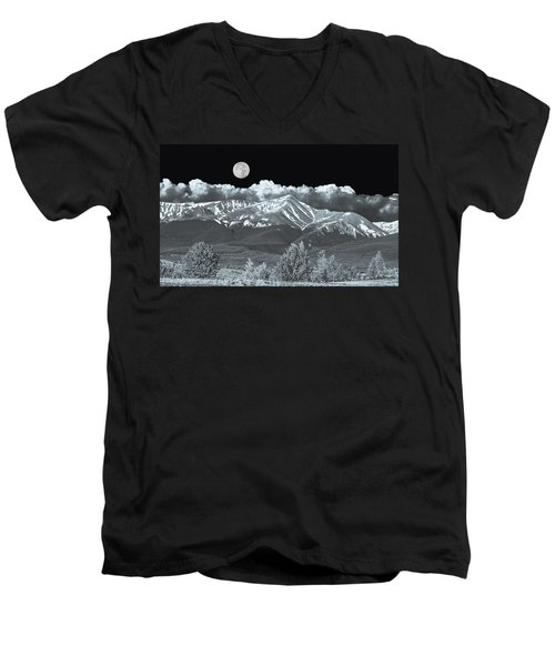 Mountains, When High Enough And Tough Enough, Measure Men.  Men's V-Neck T-Shirt by Bijan Pirnia