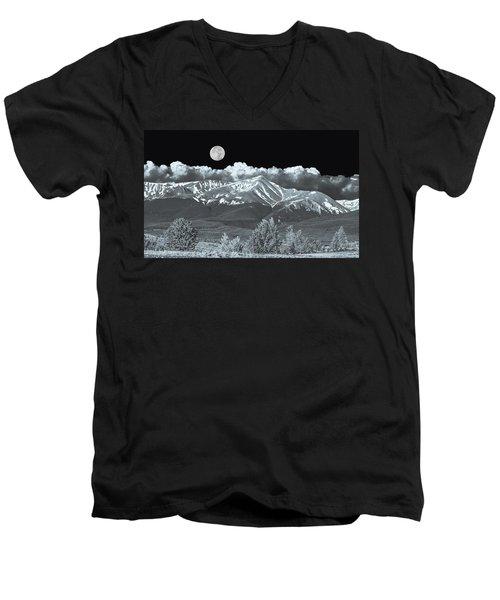 Mountains, When High Enough And Tough Enough, Measure Men.  Men's V-Neck T-Shirt