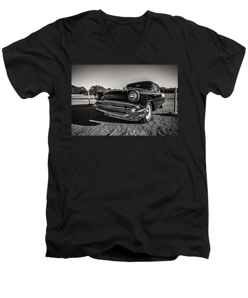 Movie Night In The '57 Men's V-Neck T-Shirt